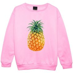 Pineapple Sweater Jumper Womens Ladies Fun Tumblr Hipster Swag Fashion... ($25) ❤ liked on Polyvore featuring tops, pink top, gothic tops, grunge tops, retro tops and pineapple top