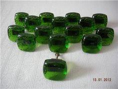 Green Glass Knobs, Knobs And Pulls, Door Knobs, Drop Earrings, Retro, Green, Auction, Drop Earring, Door Handles