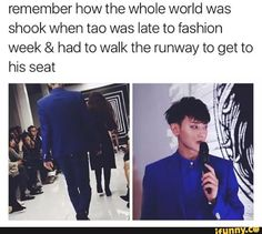 I bet he did better than the models and stole the show