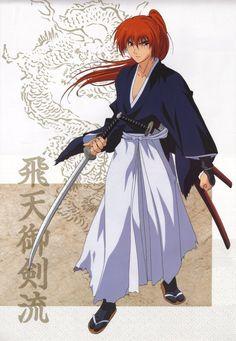 Kenshin from Rurouni Kenshin Rurouni Kenshin, Kenshin Anime, Era Meiji, Ao No Exorcist, Blue Exorcist, Kenshin Le Vagabond, Samurai Anime, Takeru Sato, Oriental Tattoo