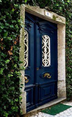 Front door - dark blue