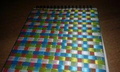 Μπλόκ σχεδίου με εξώφυλλο πλαστικοποιημένο και φτιαγμένο από κορδέλες #diy #σχέδιο #μπλοκ #κορδέλες #πλαστικοποίηση