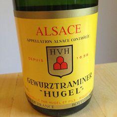 """Hugel Et Fils 2011 Gewürztraminer """"Hugel""""  Ein intensiver und frischer Wein mit tollem Ausdruck und feiner Würze!   #wein aus dem Elsass #weinerleben"""