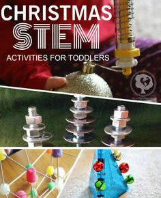 Incorporating STEM into the holidays - Christmas Science Activities for Toddlers