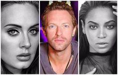 Adele Coldplay Beyonce