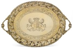 George III silver-gilt tray, Digby Scott & Benjamin Smith, retailed by Rundell, Bridge & Rundell, London, 1806