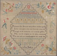 Norfolk Sampler Dated 1816