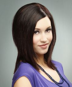 View yourself with this Medium Straight Dark Burgundy Brunette Hairstyle Cute Hairstyles For Short Hair, Hairstyles For Round Faces, Formal Hairstyles, Pretty Hairstyles, Dark Brunette, Brunette Hair, Medium Hair Styles, Short Hair Styles, Hair Affair