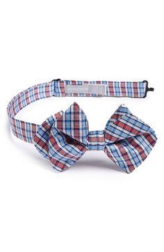 Boy's Nordstrom 'Pixel Plaid' Silk Bow Tie - Red