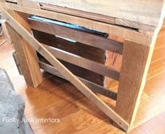 new TV stand made from a pallet | Funky Junk InteriorsFunky Junk Interiors