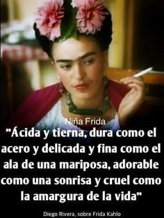 Diego Rivera, sobre Frida K. Diego Rivera, Frida E Diego, Frida Quotes, Quotes En Espanol, Spanish Quotes, Spanish Memes, Inspire Me, Quotes To Live By, Favorite Quotes