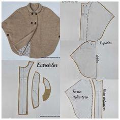 Cape Coat: Build Patterns for Sewing Dress Sewing Patterns, Doll Clothes Patterns, Sewing Clothes, Clothing Patterns, Diy Clothes, Techniques Couture, Sewing Techniques, Fashion Sewing, Diy Fashion