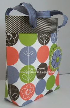 Stampin' Up! - pinning for the style of the bag not the colors
