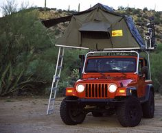 Jeep Wrangler Overhead Tent - this would be perfect for our Jeep! Jeep Camping, Motorcycle Camping, Wrangler Jeep, Jeep Wrangler Unlimited, Jeep Wranglers, Jeep Rubicon, Jeep Parts, Jeep Life, 4x4