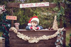 Sleigh rides for sale! - Picture for Christmas card