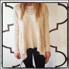 NERI SWEATER NATURAL $72- CALL SPLASH TO ORDER 314-721-6442