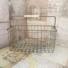 Vintage Wire Basket. Metal Basket Metal by oZdOinGItagaiN on Etsy, $24.00