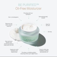 The NEW BE PURIFIED oil-free moisturizer will leave a matt finish feel on your skin in ALL the right places. Reducing shine without creating a 'flat' look to your skin. Skincare For Oily Skin, Piel Natural, Monat Hair, Cosmetic Packaging, Oils For Skin, Good Skin, Natural Skin Care, Hair Care, Moisturizer