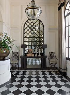 Decorator Jean-Louis Denio's interiors of a house in New Delhi..shows why I am so obsessed with black and white!!