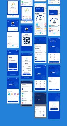 finance app ui Banky - Finance App UI Kit UI Kits on Android App Design, App Ui Design, Flat Design, Desing App, Best Ui Design, Wireframe Design, Ui Kit, Interface Design, Ui Design Mobile