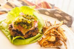 Green Chile Turkey Burgers, 198 calories and 5 PointsPlus - low carb, Paleo, and clean eating friendly
