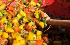 Summer Shrimp and Mango Salsa Lettuce Wrap Recipe «  Chef Marcus Samuelsson