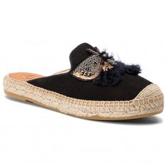 Espadrile KANNA - 19KV9561 Ante Negro Espadrilles, Sandals, Shoes, Fashion, Black, Women's, Espadrilles Outfit, Moda, Shoes Sandals