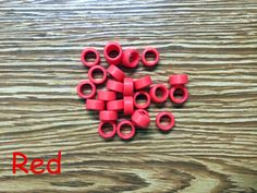 25pcs/Bag Large Type Dental Silicone Instrument Color Code Rings Red #UnbrandedGeneric