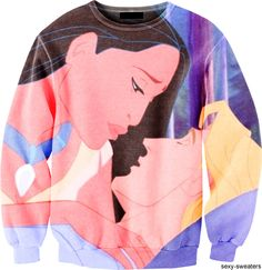 John Smith and Pocahontas sweater! I don't usually wear sweaters, but I would totally rock this one! Disney Sweatshirts, Disney Sweaters, Cute Sweaters, Disney Shirts, Disney Outfits, Cute Shirts, Disney Clothes, Disney Fashion, Women's Fashion