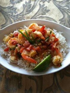 Spicy Shrimp In Coconut Milk from Food.com:   								Steamed rice is perfect with this very tasty exotic dish.