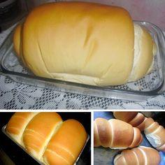Pão Caseiro Para Vender – Manual da Cozinha Bread Cake, Cake Boss, Bread Baking, Hot Dog Buns, Baking Recipes, Delish, Food And Drink, Favorite Recipes, Cooking
