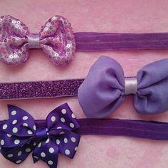 Purple hair clip, hair bows on a medley of purple headbands and they are interchangeable. Bow Accessories, Purple Hair, Handmade Crafts, Hair Bows, Hair Clips, Headbands, Craft Supplies, Etsy Seller, Unique