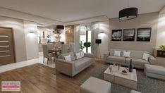 Tutaj znajdziesz zdjęcia pięknie zaaranżowanych wnętrz Open Plan Kitchen Living Room, Living Room Decor Cozy, Tv Unit, Living Room Designs, Interior, Inspiration, Furniture, Home Decor, Style