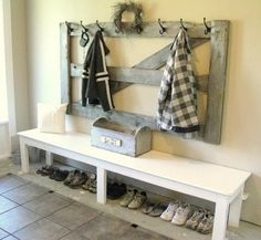 love the idea of using an old gate!