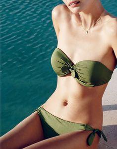 925d24d5aa53d MAR  15 Style Guide  J.Crew women s jersey Lomellina tie-front underwire. Underwire  Bikini TopBandeau ...