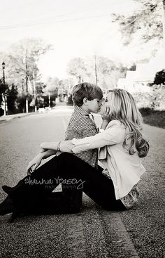 mother & son photo...I want a picture like this before my little man doesn't want to kiss me anymore.