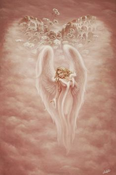 Guardian Angel by christopherpollari traditional art paintings fantasy . Angels Among Us, Angels And Demons, Statue Ange, I Believe In Angels, Ange Demon, Angel Pictures, Angels In Heaven, Wow Art, Guardian Angels