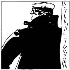 Corto Maltese by Hugo Pratt. Line Illustration, Illustration Artists, Maltese, Bd Art, Book Creator, Ligne Claire, Fun Comics, Black N White, Comic Artist