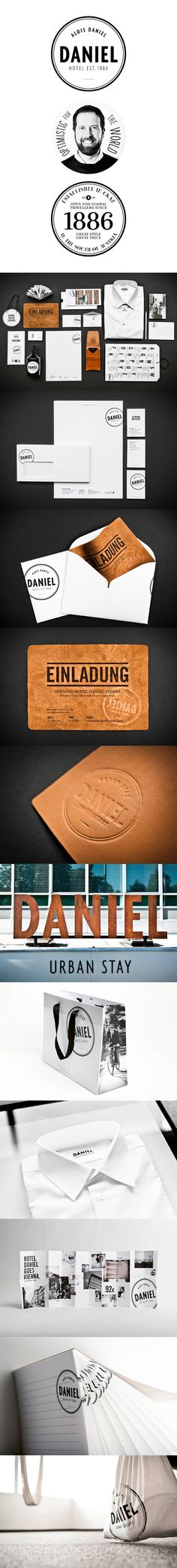 Hotel Daniel by Moodley Brand Identity | #stationary #corporate #design #corporatedesign #identity #branding #marketing < repinned by www.BlickeDeeler.de | Take a look at www.LogoGestaltung-Hamburg.de