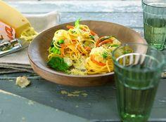 Country-style vegetarian spaghetti with Landana MATURED