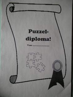 Kleuters stimuleren om te puzzelen met een puzzeldiploma! *liestr*