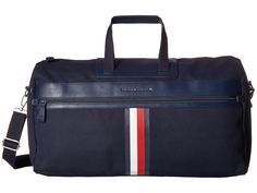 TOMMY HILFIGER Icon Duffel Canvas. #tommyhilfiger #bags #shoulder bags #hand bags #canvas #leather #crossbody #
