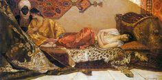 Jean- Joseph Benjamin  Constant  (French painter1845-1902)  -  Odalisque