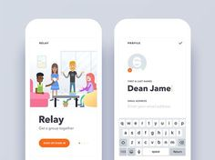 More screens from Relay project. :) App concept by Misha Ponizil UI Design by me Created with Sketch app Fonts : Avenir