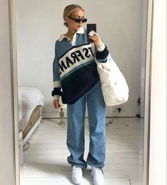 Indie Outfits, Fall Fashion Outfits, Cute Casual Outfits, Retro Outfits, Look Fashion, Winter Outfits, Vintage Outfits, Tomboy Outfits, Teenager Outfits