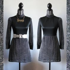 70s party dress // turtle neck  // metallic and spandex // size S // free shipping in Australia
