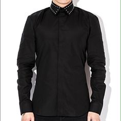 I just added this to my closet on Poshmark: Givenchy black studded collar shirt. Price: $400 Size: L