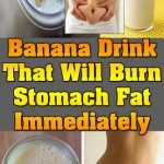 A Terrific Banana Drink That Will Burn Stomach Fat Immediately Burn Stomach Fat, Lose Belly Fat, Banana Water, Swollen Belly, Banana Contains, Banana Drinks, Most Effective Diet, Ginger Water, Easy Diet Plan