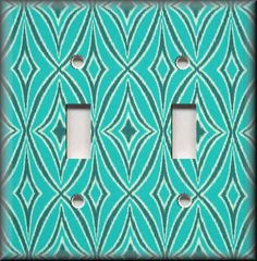 Switch Plates And Outlets - Peacock Ikat Design - Turquoise - Home Decor