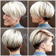 Kapsel Trendfrisuren Joe, akkurater Mittelscheitel oder The french language Cut Kick the bucket Frisurentrends Short Grey Hair, Short Straight Hair, Short Hair With Layers, Short Hair Cuts For Women, Layered Hair, Short Hair Styles, Layered Bob Hairstyles, Pinterest Hair, Pixie Haircut